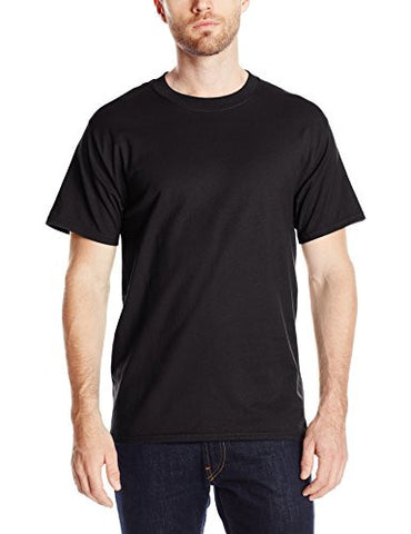 Hanes Men's Short-Sleeve Beefy T-Shirt,Black,6X-Large