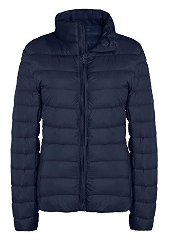 ZSHOW Women's Packable Quilted Down Jackets Light Weight Down Coat, US Medium, Navy
