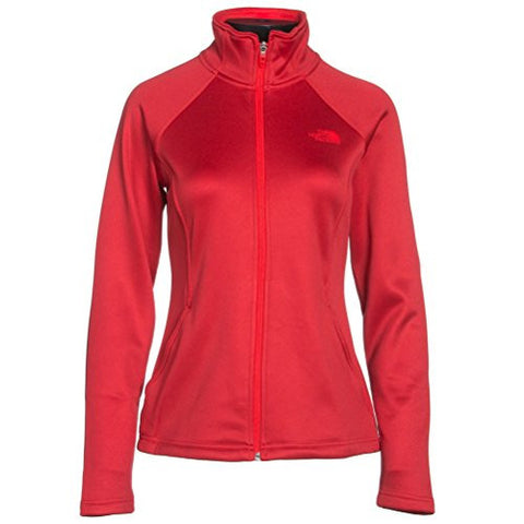 The North Face Women's Agave Full Zip Fleece (X-Small, High Risk Red Heather)