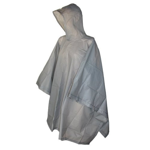 totes ISOTONER Unisex Hooded Pullover Rain Poncho with Side Snaps, Grey Smoke, One Size