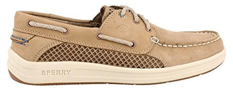 Sperry Top-Sider Men's Gamefish 3-Eye Boat Shoe, Linen, 13 M US