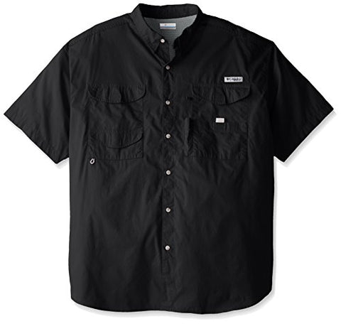 Columbia Men's Bonehead Short Sleeve Shirt, Black, XL