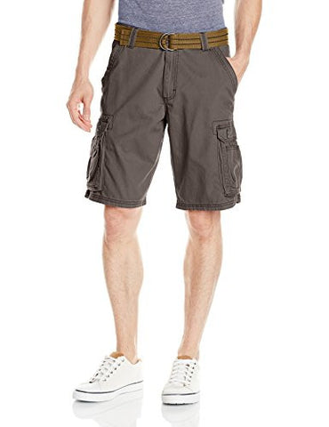 Lee Men's Dungarees New Belted Wyoming Cargo Short, Smokehouse, 36