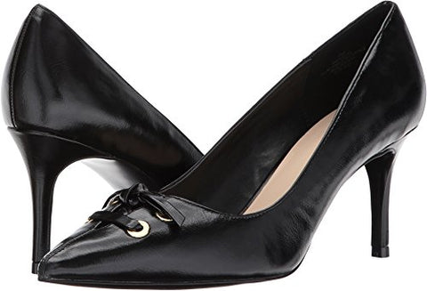 Nine West Women's Megdra Synthetic Pump, Black Synthetic, 8.5 M US
