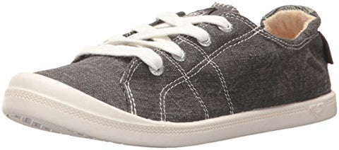 Roxy Women's Bayshore Fashion Sneaker, Grey/Black, 7 M US