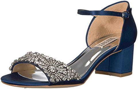Badgley Mischka Women's Mareva Heeled Sandal, Navy, 8 M US