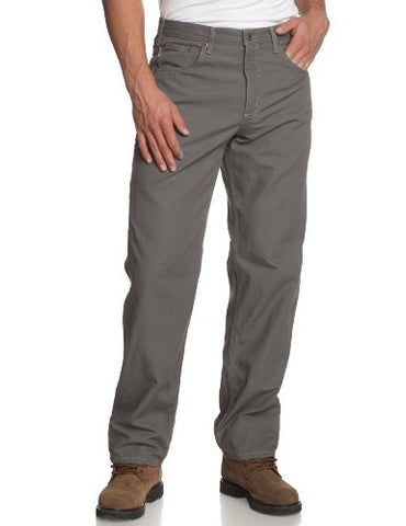 Carhartt Men's Loose Fit Canvas Carpenter Five Pocket B159,Charcoal,34 x 32