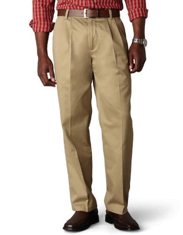 Dockers Men's Classic Fit Signature Khaki Pant - Pleated D3, Dark Khaki (Cotton)-Discontinued, 40W x 32L