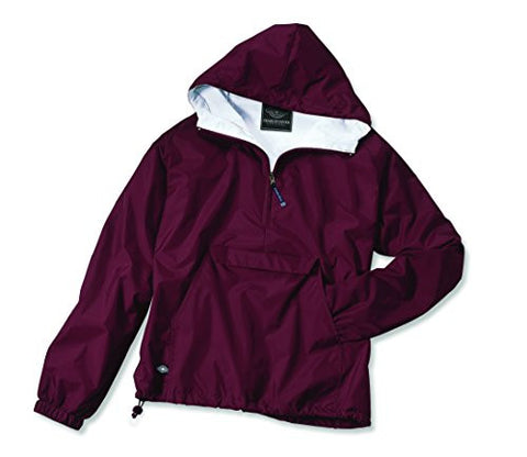 Charles River Apparel Women's Front Pocket Classic Pullover - Maroon, Large