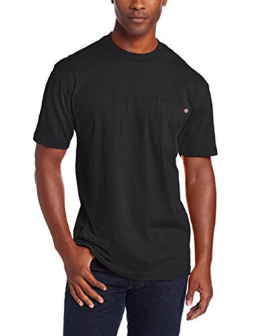 Dickies Men's Big-Tall Heavyweight Crew Neck Short Sleeve Tee, Black, 3X
