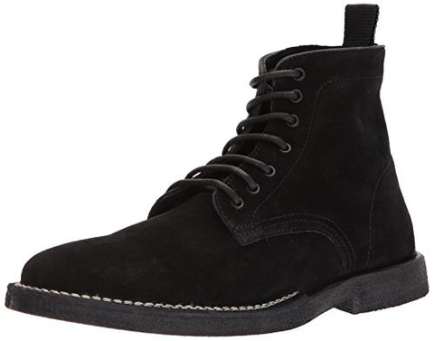Steve Madden Men's Laramee Winter Boot, Black Suede, 12 US/US Size Conversion M US
