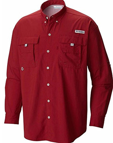 Columbia Sportswear Men's Bahama II Long Sleeve Shirt, Beet, Medium