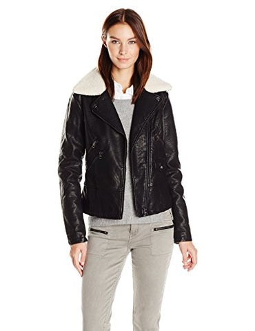 Steve Madden Women's Fashion Outerwear Jacket, Black Iafbk, L