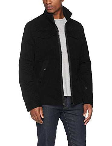 G-Star Raw Men's Deline Overshirt Long Sleeve, Dk Black, Large