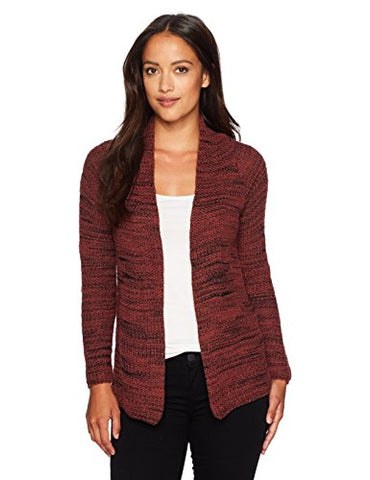 NIC+ZOE Women's Petite Thick and Thin Cardy, Tamarind, PM