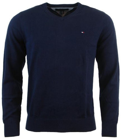 Tommy Hilfiger Mens Long Sleeve Pacific V-Neck Pullover Sweater - S - Navy