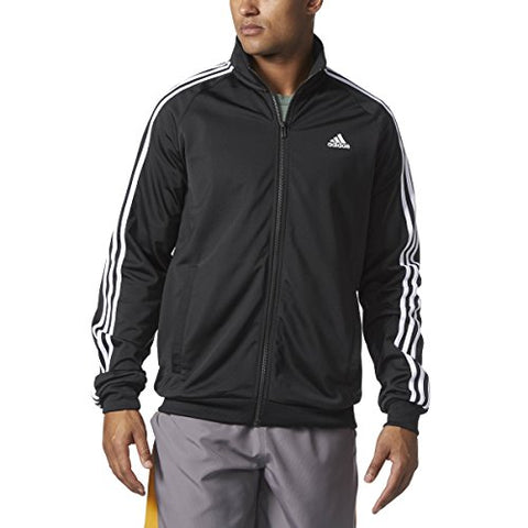 adidas  Men's Big &Tall Essentials 3S Tricot Track Jacket Black/White Large