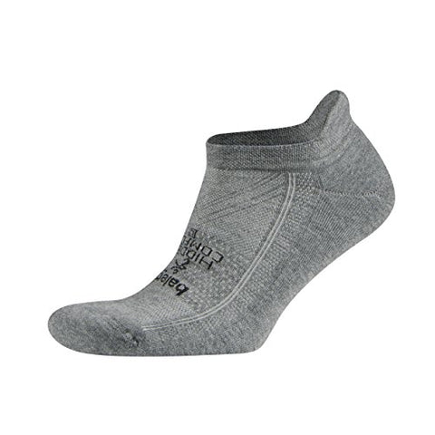 Balega Hidden Comfort Athletic No Show Running Socks for Men and Women with Seamless Toe, (Medium) - Charcoal