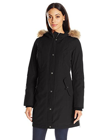 Levi's Women's Arctic Cloth Full Length Hooded Snorkel, Black, Large