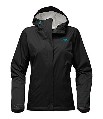 The North Face Women's Venture 2 Jacket (Large, TNF Black/Harbor Blue)