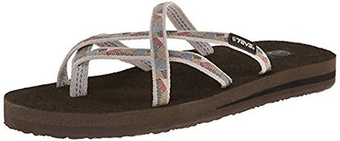 Teva Women's Olowahu Flip-Flop (7 B(M) US, Waterfall-Antique Gold)