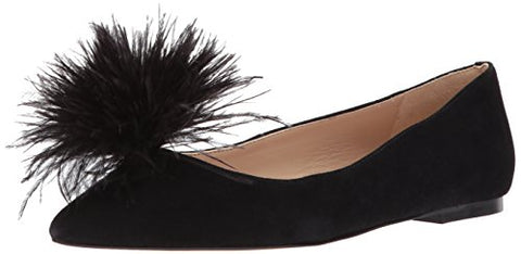 Sam Edelman Women's Reina Ballet Flat, Black Suede, 10.5 Medium US
