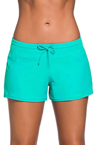 Aleumdr Women's Swim Boardshort Bottom Shorts Swimming Mint Green XX-L
