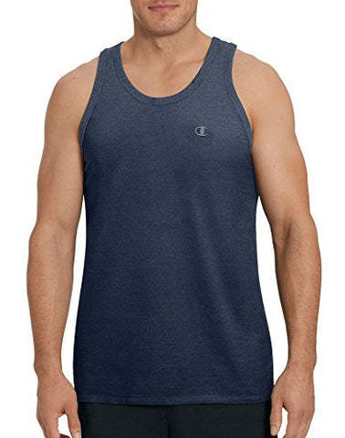 Champion Men's Classic Jersey Ringer Tank Top, Navy, S