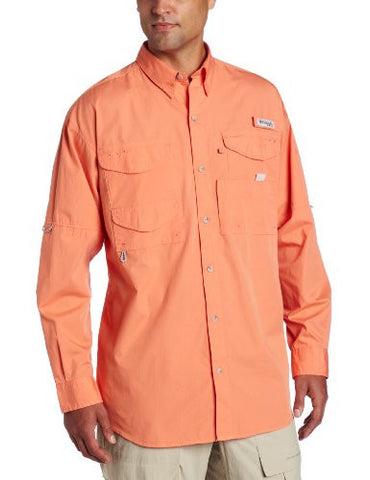 Columbia Men's Bonehead Long Sleeve Shirt, Bright Peach, Large