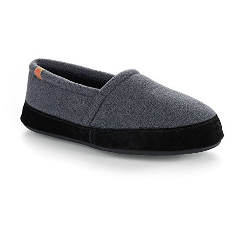 ACORN Men's Moc Slipper, Charcoal, Medium/9-10 M US