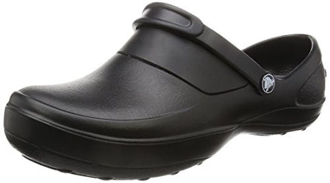 crocs Women's Mercy Clog, Black/Black, 8 M US