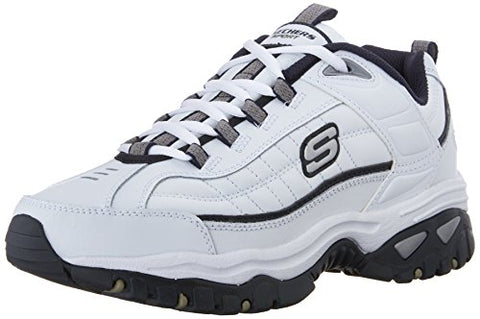 Skechers Sport Men's Energy Afterburn Lace-Up Sneaker,White/Navy,10 M US