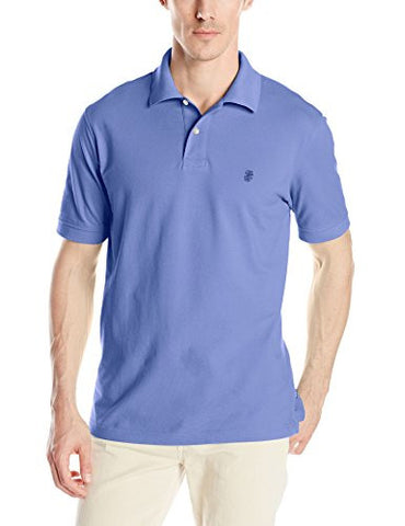 IZOD Men's Heritage Solid Pique Polo, Blue Revival, X-Large