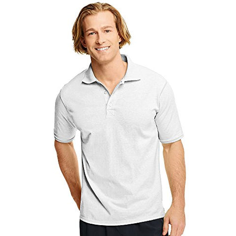 Hanes Men's X-Temp Sportshirt_White_XL