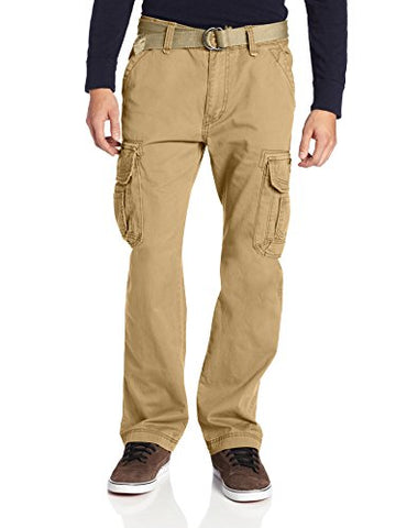Unionbay Men's Survivor Iv Relaxed Fit Cargo Pant, Rye, 48x30
