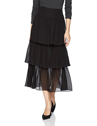 BCBGeneration Women's Tiered Maxi Skirt, Black, 4