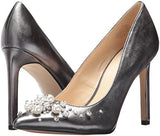 Nine West Women's Taylin Patent Pump, Pewter, 6.5 M US