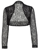 Elegant Lace Crochet Bolero Shrug Cardigan Crop Top for Mom JS49-1 2XL