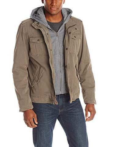 Levi's Men's Four-Pocket Hooded Jacket,Khaki,XX-Large
