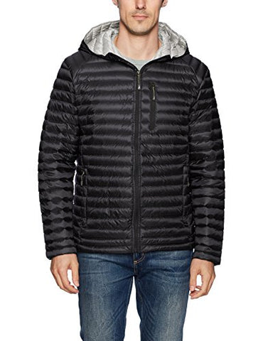 Nautica Men's Ultra Light Quilted Down Jacket, Black, M
