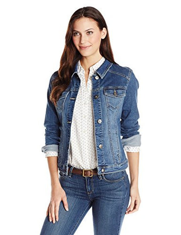 Wrangler Authentics Women's Denim Jacket, Weathered, Medium
