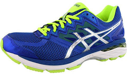 ASICS Men's GT 2000 4 Running Shoe, Asics Blue/Silver/Flash Yellow, 11 M US