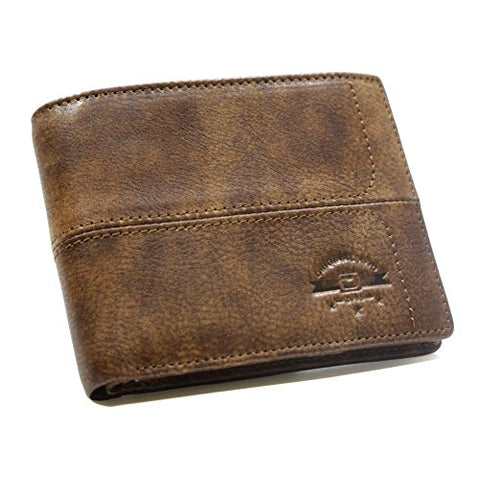 RFID Blocking Men's Bifold with Coin Section - RFID Protection Wallets for Men - Security Wallet (Brown)