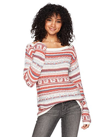 Roxy Women's Cold Is Coming Off the Shoulder Sweater, Dusty Cedar, M