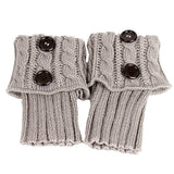Coromose 2015 Jacquard Knitted Cuffs Toppers Liner Boot Leg Warmers Socks (New-Grey)