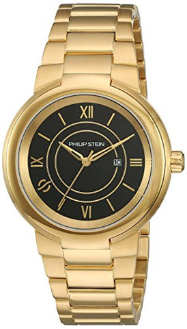 Philip Stein Women's 'Active' Quartz Stainless Steel Casual Watch, Color:Gold-Toned (Model: 31-ACGB-GSS)
