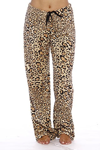 Just Love Women's Plush Pajama Pants, X-Large, Leopard