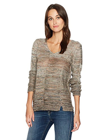 NIC+ZOE Women's Textured Ombre Top, Multi, M