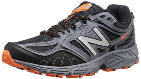 New Balance Men's 510v3 Trail Running Shoe, Black/Grey, 12 4E US