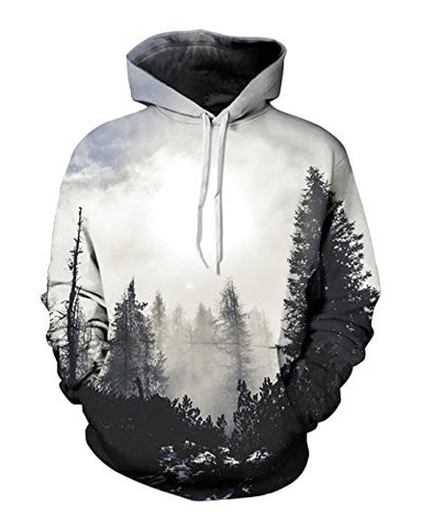 Sankill Unisex Harajuku Realistic 3d Digital Pullover Sweatshirt Hoodie Hooded Sweatshirt Pockets Hoodie Zip-up Hoodie S-3XL (2xl/3xl, tree)